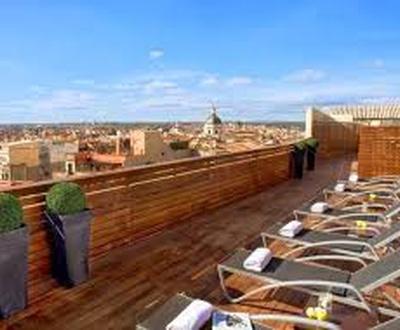 Terrasse sur le toit Hôtel Cortezo